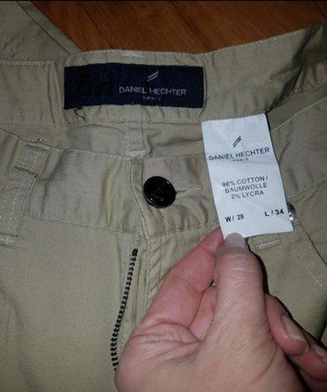 DANIEL HECHTER Muske pantalone, model farmerki, kamel - bez - braon