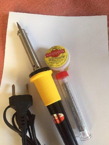 Наборы инструментов в Кыргызстан: [Мини Паяльник] Комплект паяльник+олово+канифоль.Подойдет для мелкой