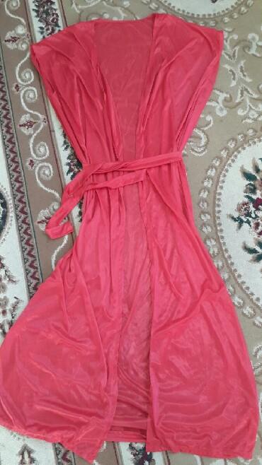 женские велюровые халаты в Азербайджан: Накидка халат.тонкий полупрозрачный с поясом .на пляж можно
