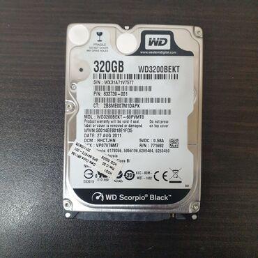 дубликатор дисков в Кыргызстан: 320gb wd3200bekt WD SKORPIO BLACK sata2 7200rpmЗдоровье 100%, смарт