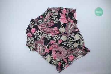 Личные вещи - Украина: Жіноча блуза в яскравий квітковий принт Xiao Ji, p. 3XL   Довжина: 66