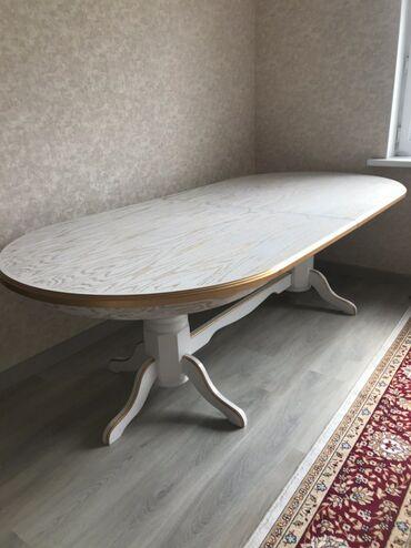 Комплекты столов и стульев - Кыргызстан: Продаю стол и 8 стульев к нему