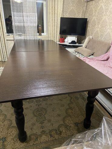 стулья для зала бишкек в Кыргызстан: Продаётся новый #стол и #стулья 🪑 Длина 3,2м Ширина 1.2м Стандарт. В