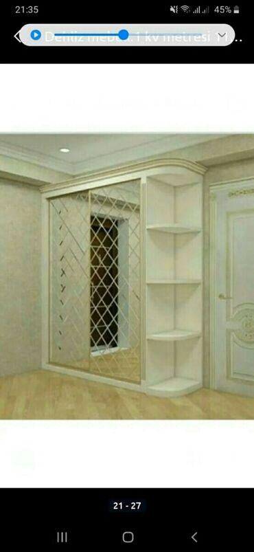 вешалка в коридор в Азербайджан: Dehliz dolablari kvadrat metri 130 azn.Paxlava guzgu kv m.90 azn.Tac