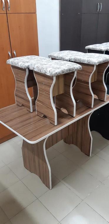 Продаю новый стол с 4табуретками в Бишкек