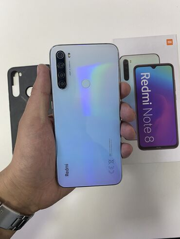 redmi note 8 pro 128gb цена в оше in Кыргызстан | ЧЕХЛЫ: Xiaomi Redmi Note 8 | 64 ГБ | Белый | Гарантия, Сенсорный, Отпечаток пальца