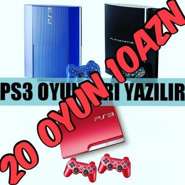 Bakı şəhərində Playstation 3 en yeni esas oyunlarinin yazilmasi... 20 oyun 10azn... O