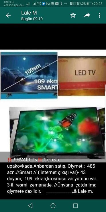 smart tv - Azərbaycan: ‼ SHVAKI- Tv‼Təzə və upakovkada.Anbardan satış. Qiymət : 485