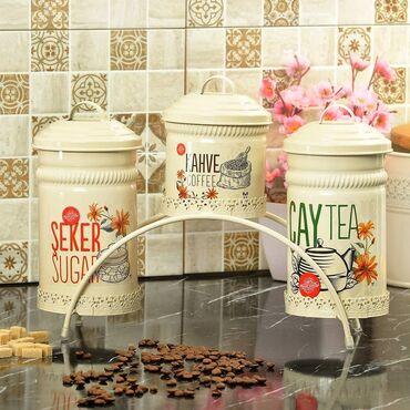 Mətbəx dəstləri - Azərbaycan: Çay,kofe ve pesok qabı
