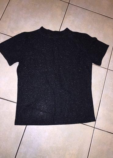 Μαύρο κοντο μπλουζακι απο υφασμα glitter No small  σε Rest of Attica