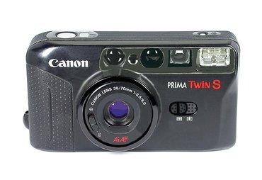Canon Prima Twin S 35mm Black Compact Film Camera auto focus  w/ в Athens