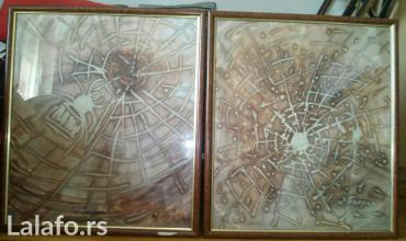Slike diptih batik na svili, dimenzija 70x60cm. Slikar dušanka - Belgrade