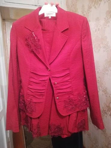 Трикотажную двойку - Кыргызстан: Продаю турецкий костюм двойку бордового цвета. Размер 38. Состояние от