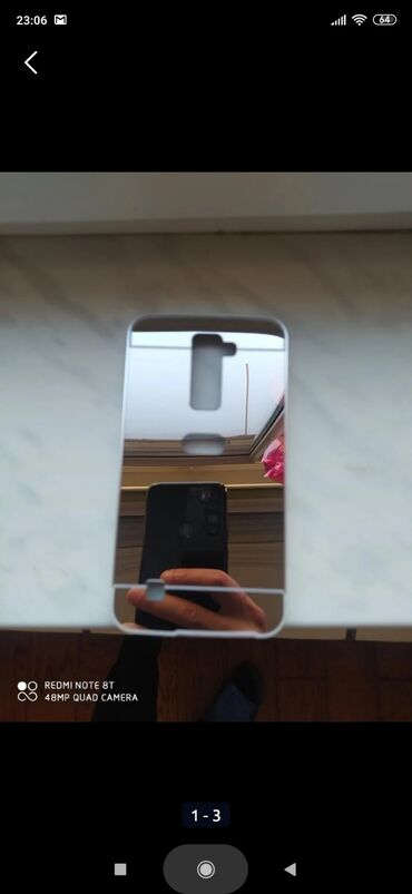 Telefon LG K 10 Modeli Ucun Kabura Satilir. Sekilleri Var. Guzgu
