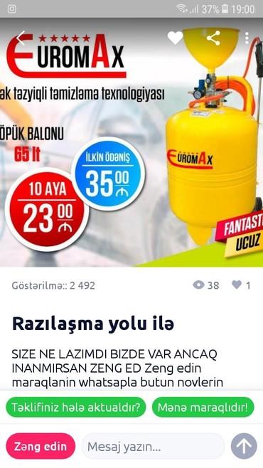 Yüksək təzyiqli yuma Azərbaycanda: Zeng edin maraqlanin whatsapla butun novlerin seklin atim fantastik