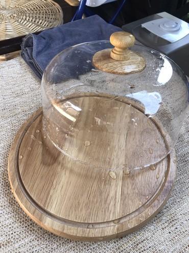 Хлебницы в Кыргызстан: Стильная деревянная хлебница!!! Диаметр 25 см! Крышка не стекло!