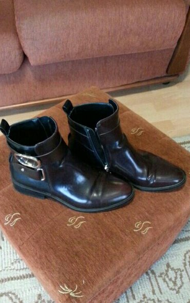 Zarine čizme od eko kože, bordo, crne, nošene par puta, bez oštećenja, - Velika Plana