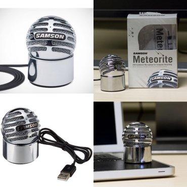 """Xırdalan şəhərində Samson meteorite mikrofon. Samson meteorite"""" 14 mm diafraqmaya malik"""