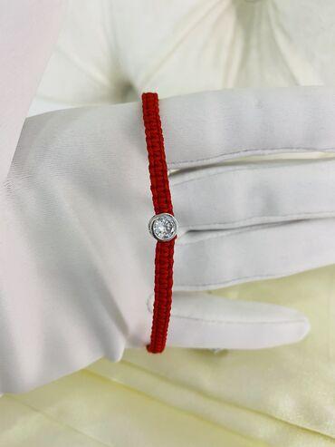 595 проба в Кыргызстан: Браслеты красная нить в серебре 925 проба. Россия. Цена на все браслет