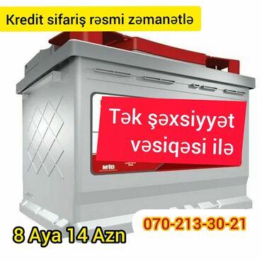 Akumlyator Kredit sifariş Şəxsiyyət vəsiqəsi ilə akkumuluyator   akum