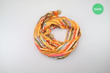 Личные вещи - Украина: Жіночий яскравий шарф з помпонами   Розмір: 160 х 70 см  Стан гарний