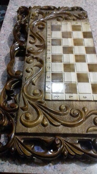 Шахматы - Кыргызстан: Нарды шахматы два в одном, ручной работы.Отличный подарок для друзей и