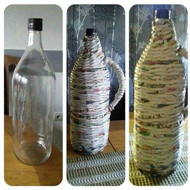 Pletene flaše različitih zapremina. Po želji se može bojiti i oslikati - Krusevac
