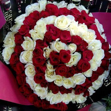 101 роза Акция 30 см  40 см  50 см  70 см  80 см  100см