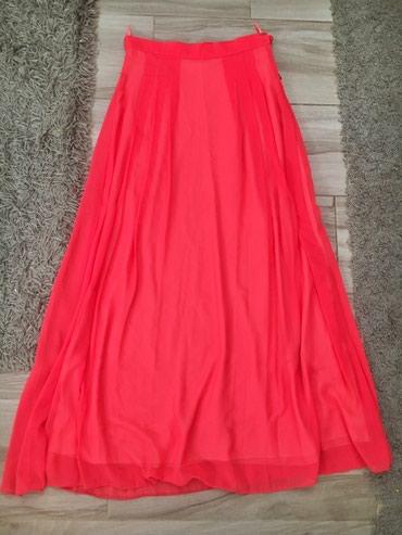Duzina struk suknja - Srbija: Pink duga Suknja 2x nosena  Duzina 108cm  Struk 38( poluobim)