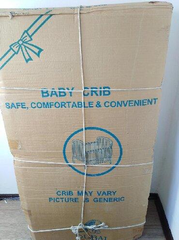 сумка переноска для детей в Кыргызстан: Дет. Кроватка б/у цвет-белый