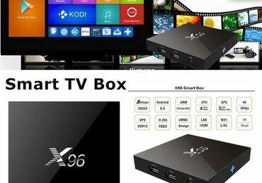 stekljannuju podstavku dlja tv в Кыргызстан: Продаю Android TV box x96
