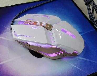 Компьютерные мыши - Кыргызстан: Мышь геймерская Х5 с подсветкой. Новая. Подсветка радуга. Цвет белы