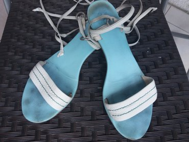 Lacoste bele kožne sandale. Broj 39. - Belgrade