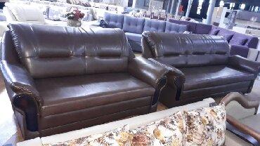"""раздвижной диван с креслами в Кыргызстан: Мягкая мебель из экокожи """" Сенатор """". Комплект диван+ 2 кресла. Диван"""
