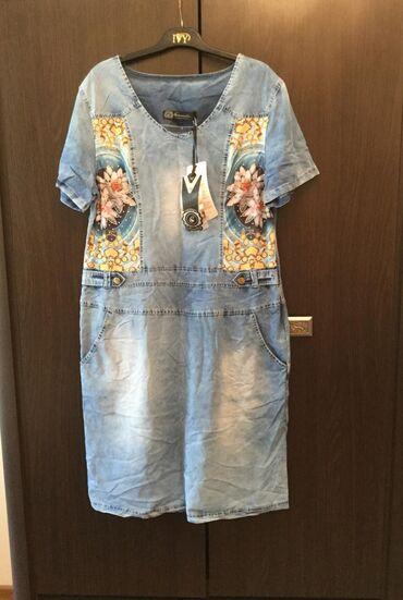платье женское летнее в Кыргызстан: Новое платье женское летнее, размер 46 (L)