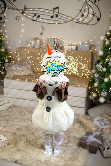 Новогодний костюм - снеговик Олаф, на 5 лет. Шили на заказ, был одет 1