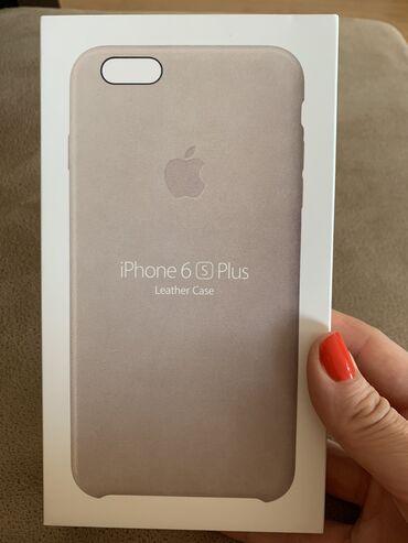 чехол iphone 8 в Азербайджан: IPhone 6 S Plus case Новый чехол для телефона из Натуральной Кожи  Был