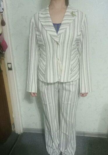 Летние костюмы женские р.48-50 лен фабричные