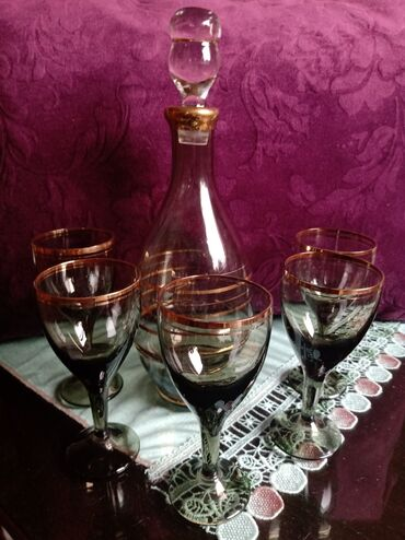 Set za vino nov cesko kristalno staklo iz 70-ih. fabricki