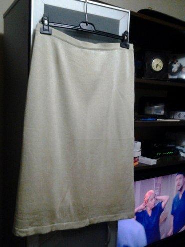 Lepa suknja malo ispod kolena zlataste boje trikotaza lagana tanja zgo - Beograd