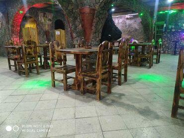 - Azərbaycan: Restoran bag evleri ucun Masa ve oturacaqlar besetkalar temiz quru wam