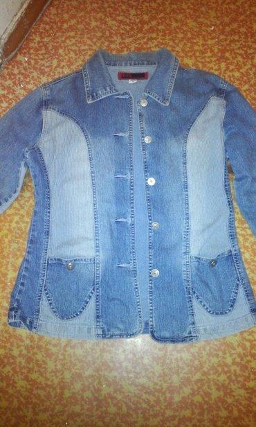 Женские куртки в Кыргызстан: Джинсовый пиджак, размер 46-48,б/у