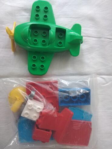Rc avion - Srbija: Lego kockice Duplo rinfuz +avion 285 grama