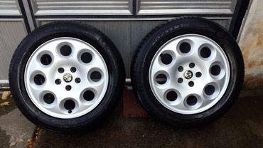 Alfa-romeo-75-2-mt - Srbija: Na prodaju felne sa gumama za Alfa Romeo 166Bez guma cena felni je