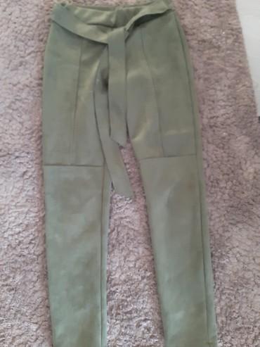Maslinaste pantalone helanke M - Novi Sad