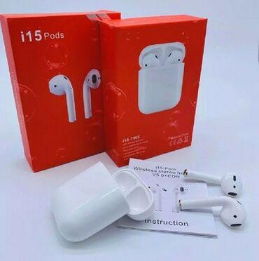Наушники TWS i15 Pods автоматически синхронизируется с телефоном