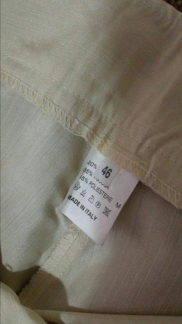 Italijanske pantalone 3/4, nove ,46 veličina, struk 86 cm, dužina 80cm - Velika Plana