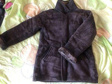 Пальто - Бишкек: Мужская дубленка натуральная кожа (овца) чень теплая