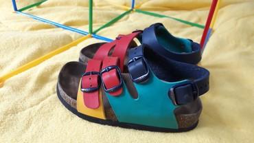 GRUBINOVE kozne sandalice sa kutijom, jednom obuvane, mali nam je broj - Valjevo
