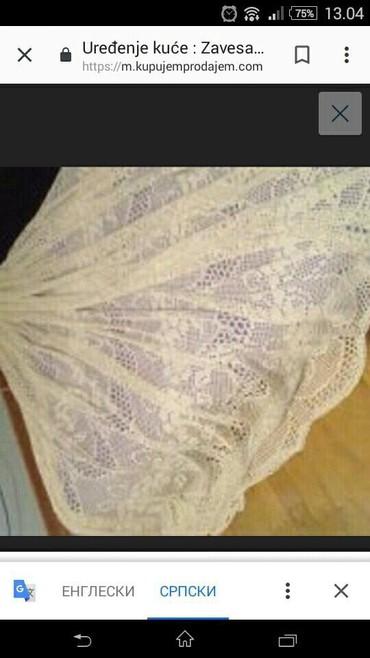 Rucno heklana pamucna zavesa. Duzina 2 m, sirina 4 m. Izuzetno ocuvana - Belgrade